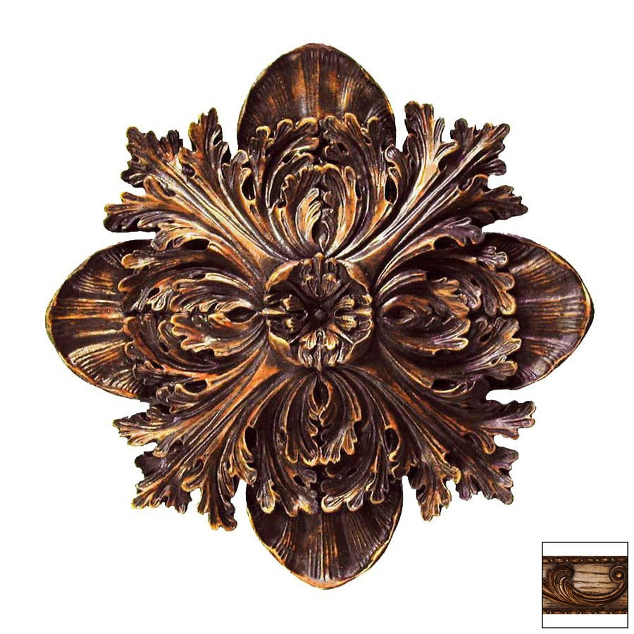 Hickory Manor House 17-in W x 22-in H Frameless Acanthus Carving Sculptural Wall Art