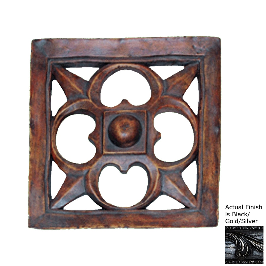 Hickory Manor House 15.5-in W x 15.5-in H Frameless Resin Gothic Dome Star Tile 3D Wall Art