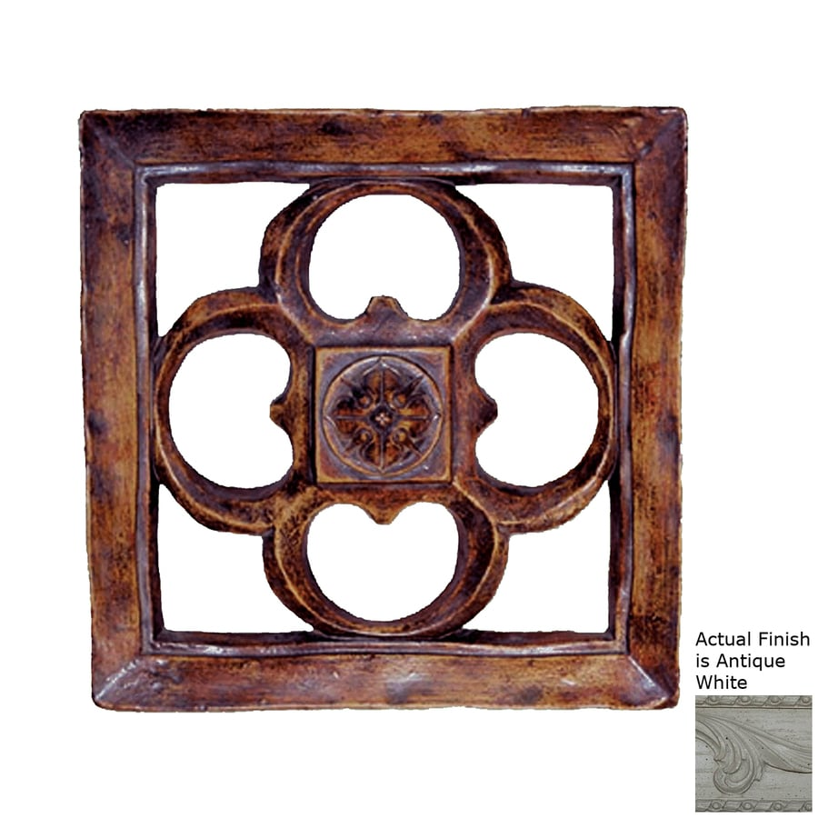 Hickory Manor House 15.5-in W x 15.5-in H Frameless Resin Gothic Square Tile 3D Wall Art