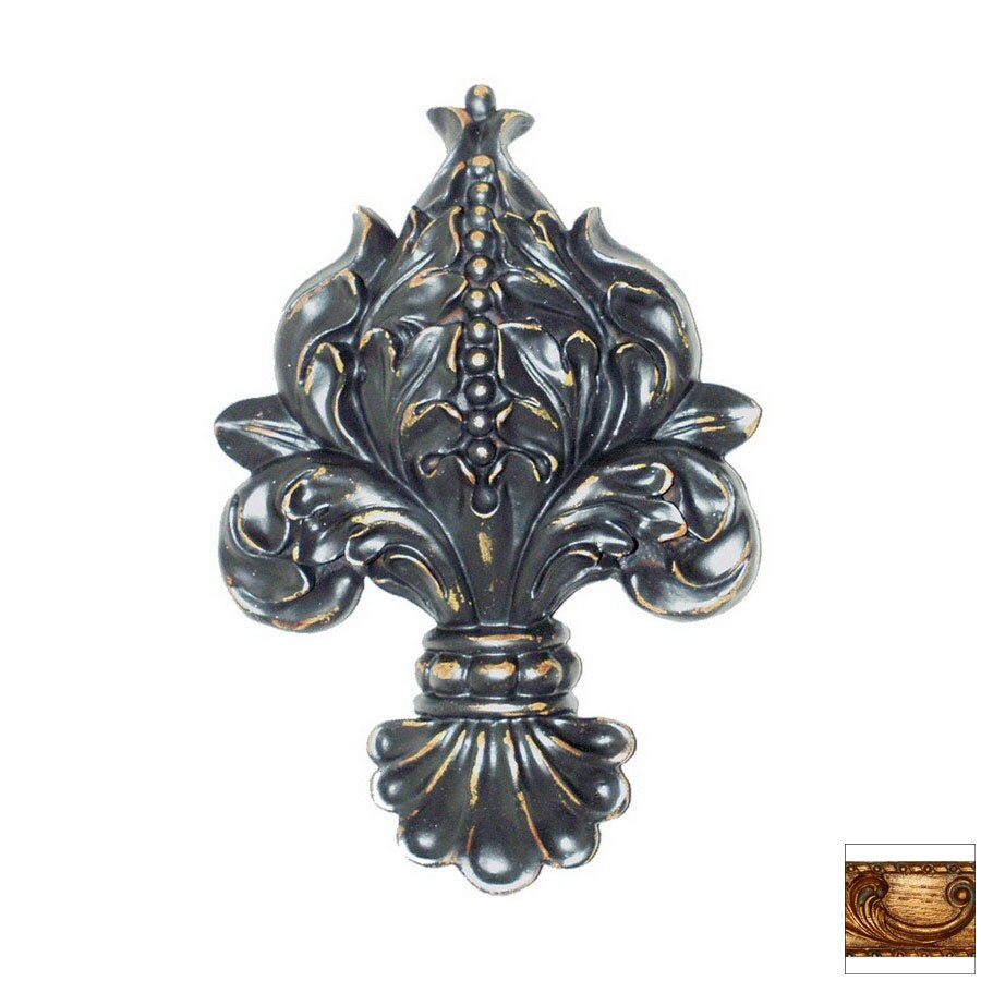 Hickory Manor House 7-in W x 10-in H Frameless Fleur-De-Lis Sculptural Wall Art