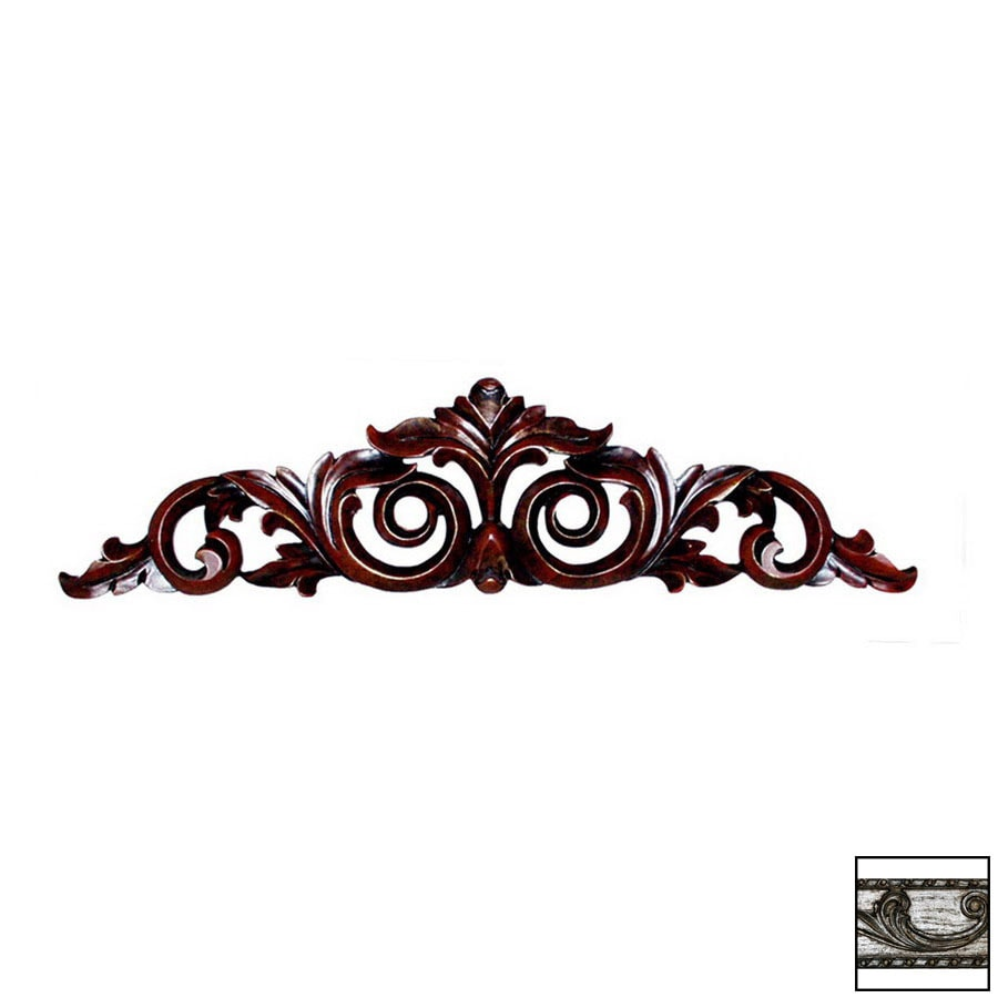 Hickory Manor House 23-in W x 6-in H Frameless Scrolled Leaf Sculptural Wall Art