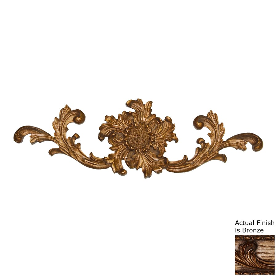 Hickory Manor House 16.5-in W x 5.25-in H Frameless Resin French Sunflower Cartouche 3D Wall Art