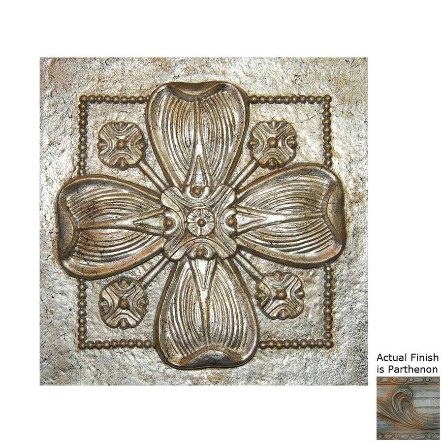 Hickory Manor House 9.5-in W x 9.5-in H Frameless Resin Dogwood Tile 3D Wall Art