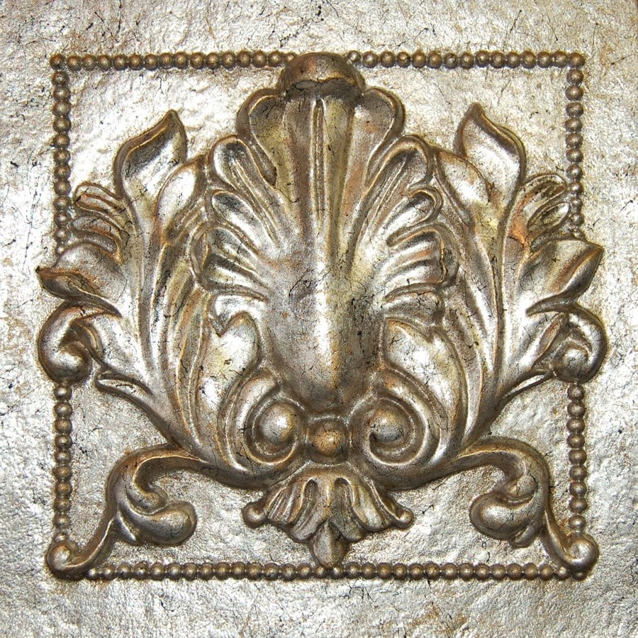 Hickory Manor House 9.5-in W x 9.5-in H Frameless Resin Acanthus Tile 3D Wall Art