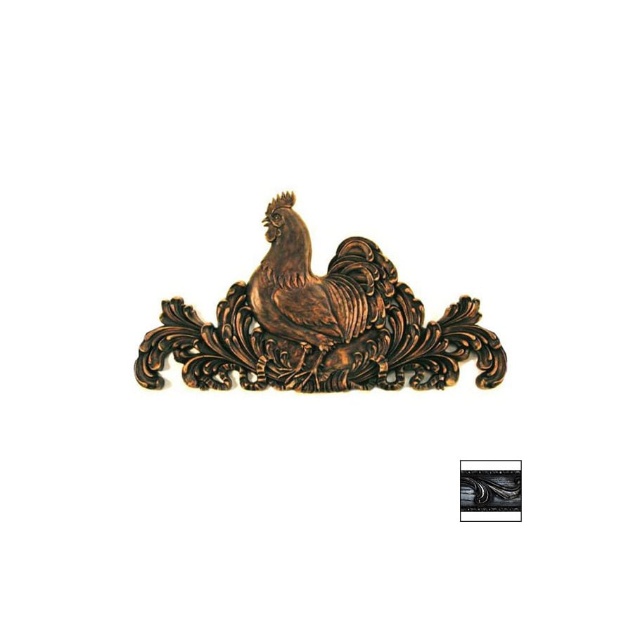 Hickory Manor House 30-in W x 16-in H Frameless Carved Rooster Sculptural Wall Art