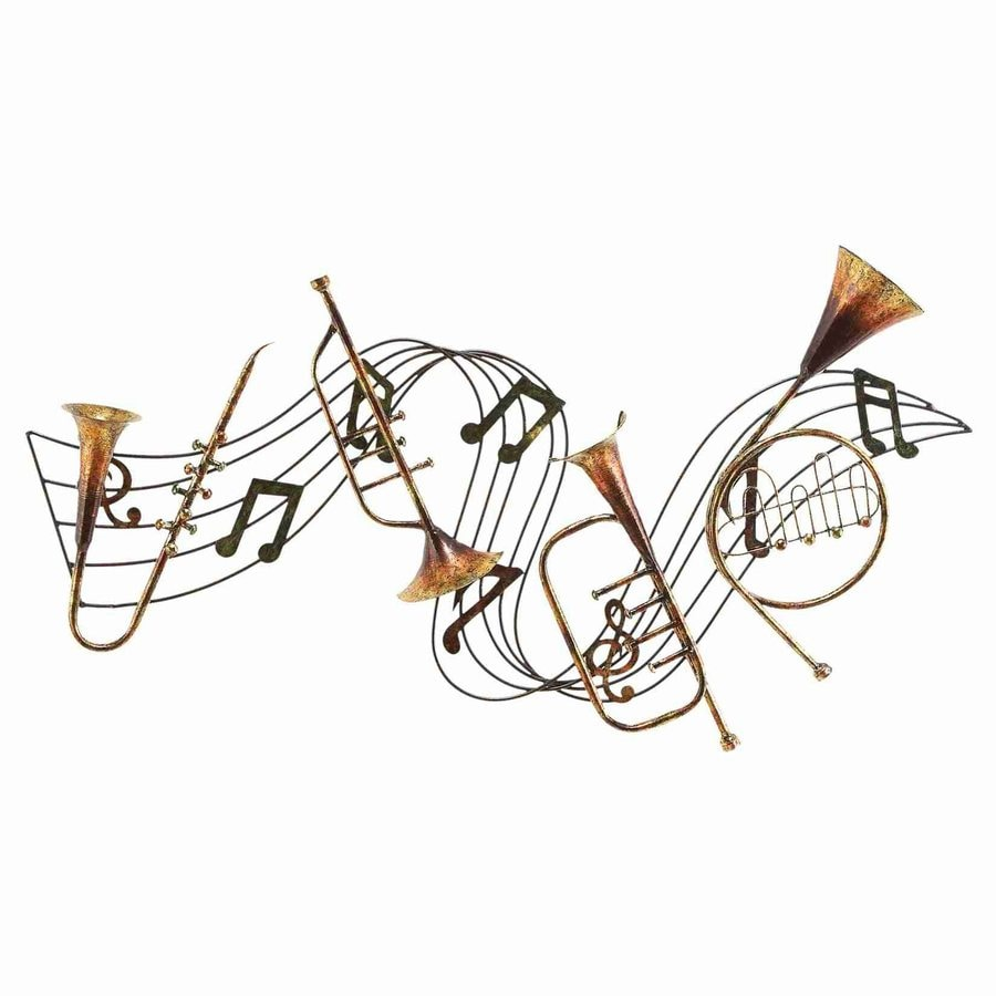 Woodland Imports 39-in W x 22-in H Frameless Metal Music 3D Wall Art