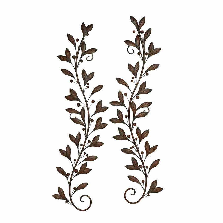 Woodland Imports 2-Piece 16-in W x 58-in H Frameless Metal Vines 3D Wall Art