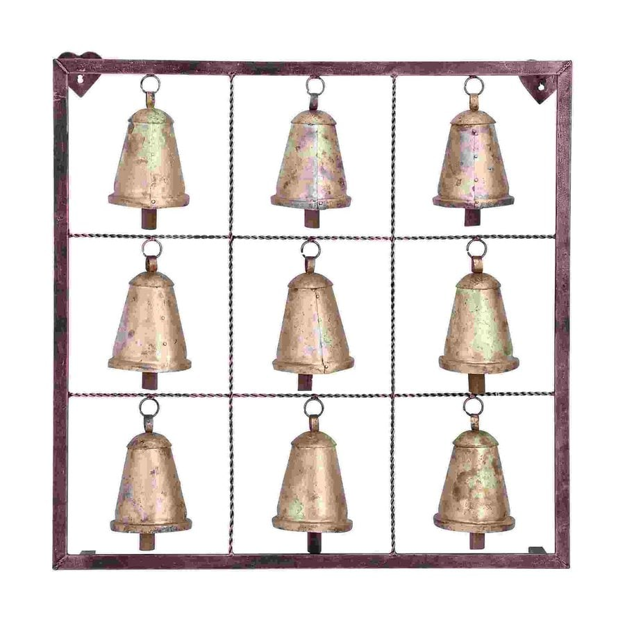 Woodland Imports 32-in W x 32-in H Framed Metal Bells 3D Wall Art
