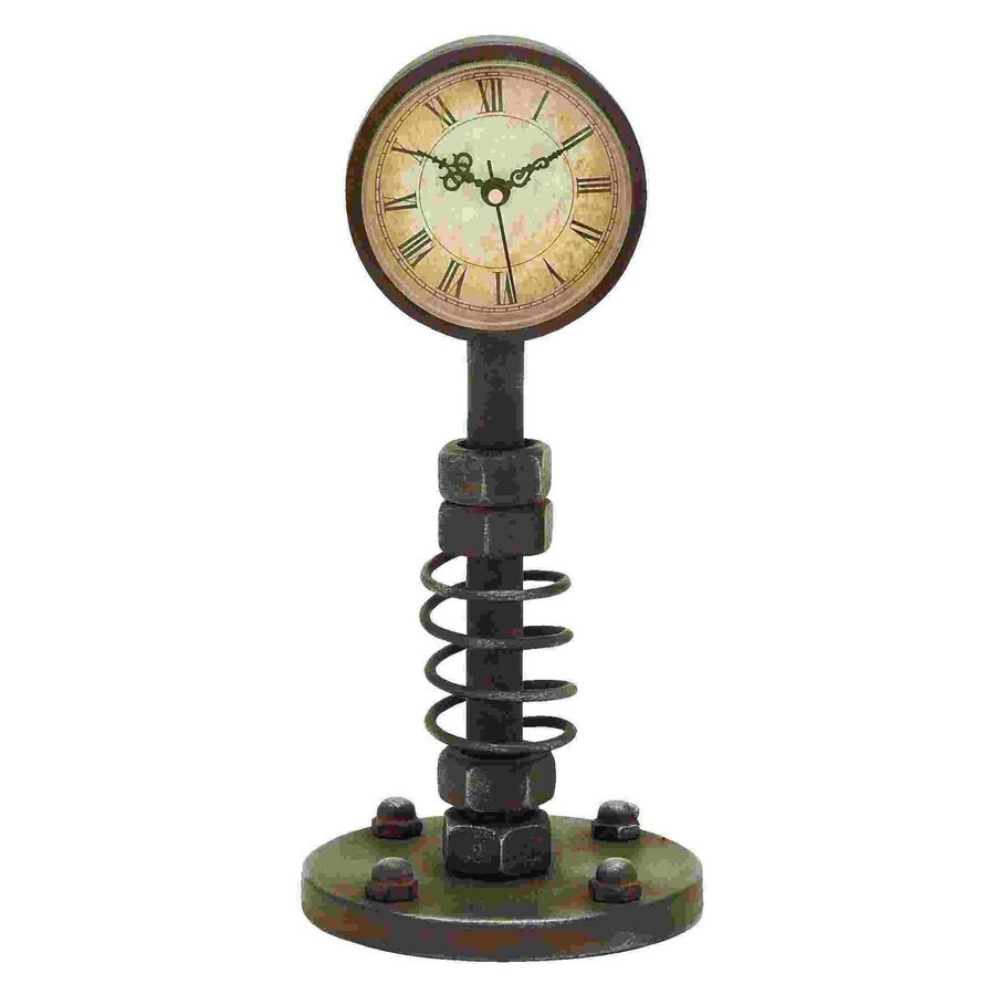 Woodland Imports Analog Round Indoor Tabletop Standard Clock