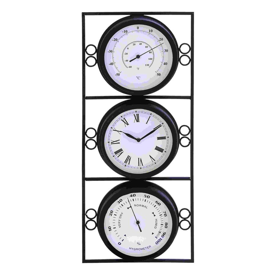 Woodland Imports Analog Rectangle Indoor Wall Standard Clock