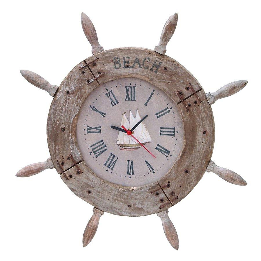 Woodland Imports Nautical Maritime Analog Round Indoor Wall Standard Clock
