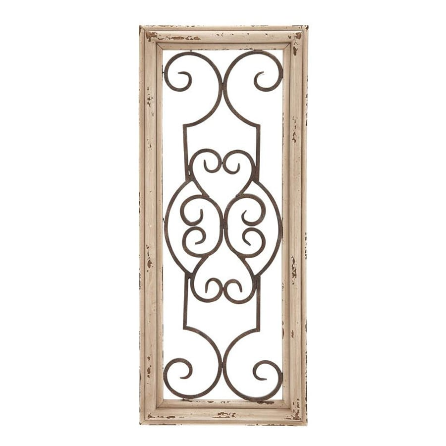 Shop Woodland Imports 10 In W X 25 In H Framed Metal