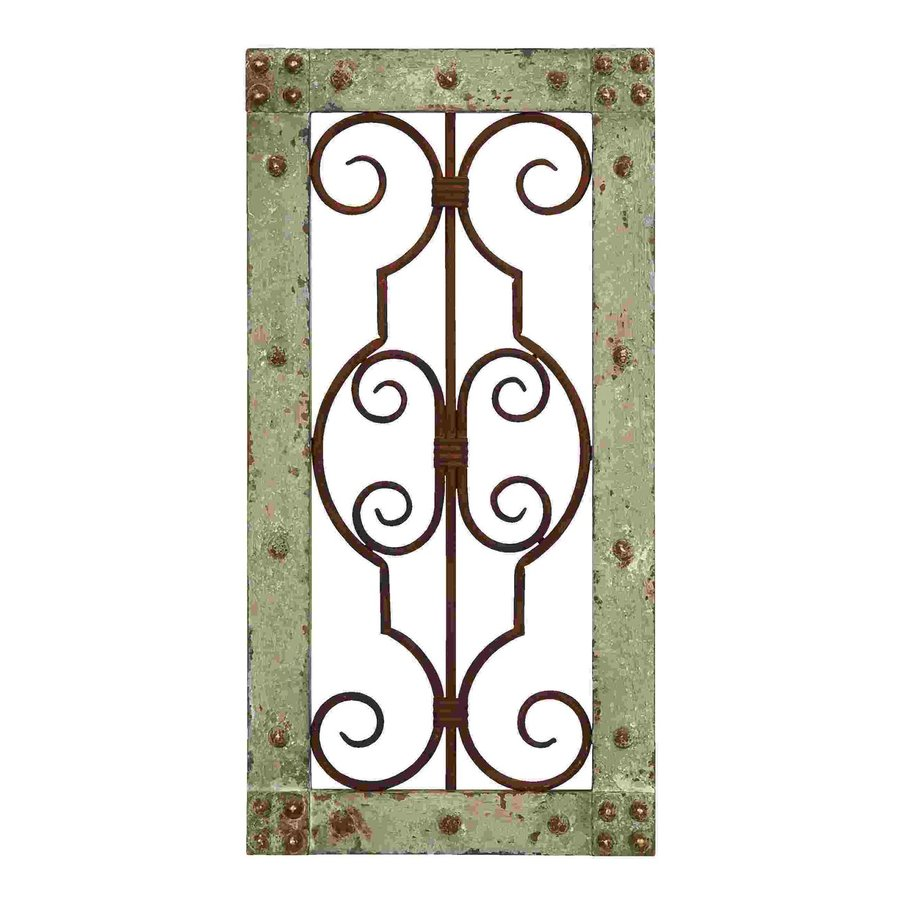 Woodland Imports 10-in W x 20-in H Framed Metal Abstract 3D Wall Art