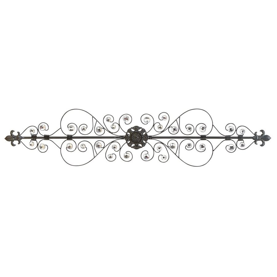 Woodland Imports 44-in W x 10-in H Frameless Metal Scoll Design 3D Wall Art