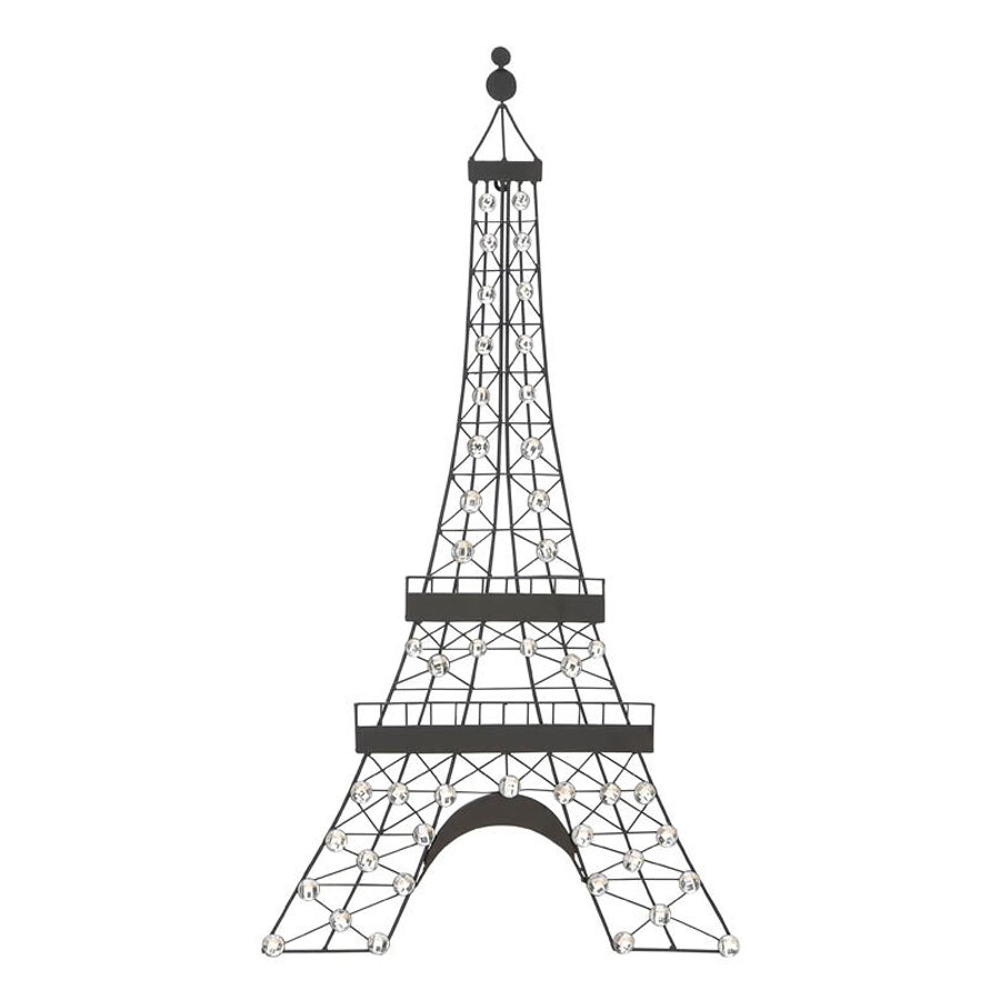 Woodland Imports 18-in W x 32-in H Frameless Metal Eiffel Tower 3D Wall Art