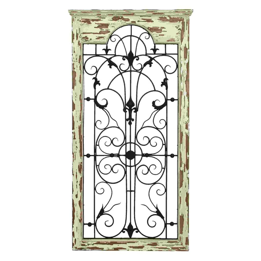 Woodland Imports 27-in W x 51-in H Framed Metal Magical Wooded Gate 3D Wall Art