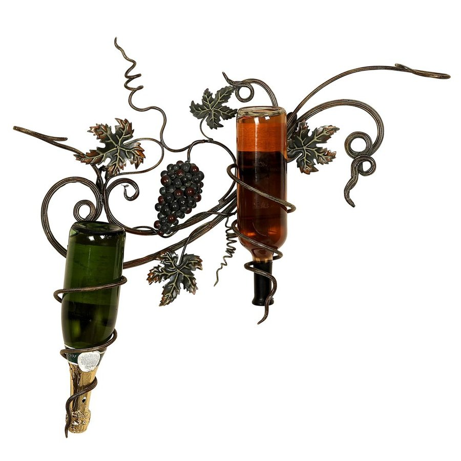 Woodland Imports 2-Bottle Wall-Mount Wine Rack