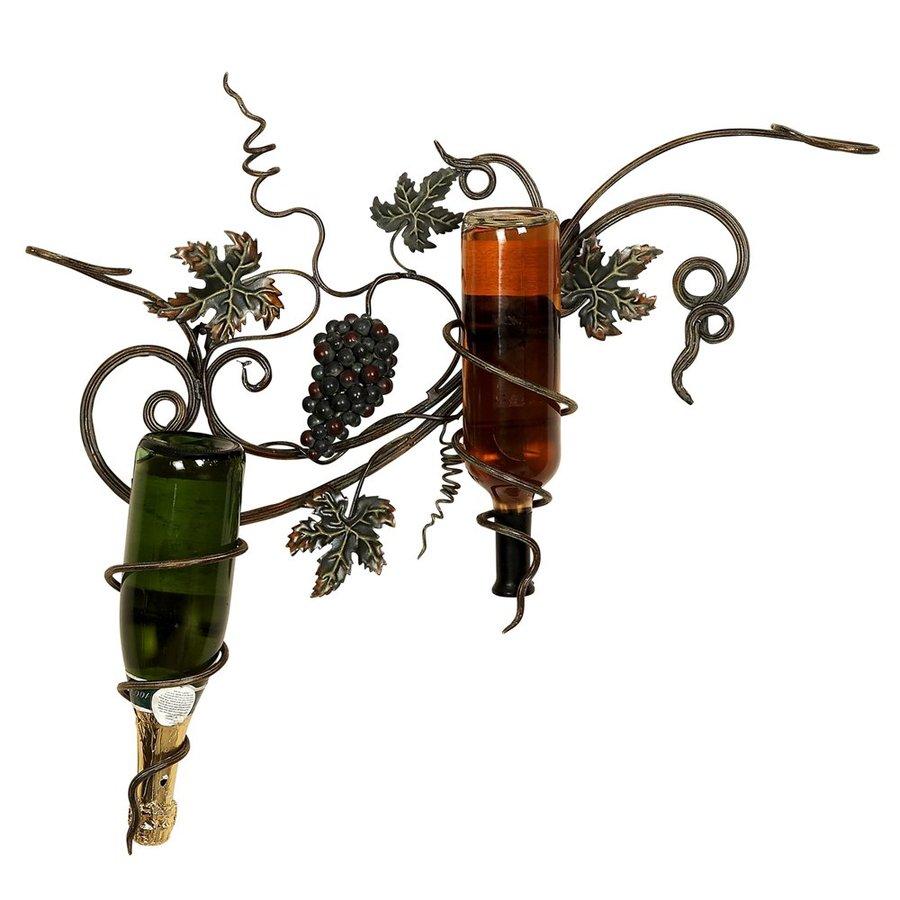 Woodland Imports 2-Bottle Wall-Mount Wine Rack