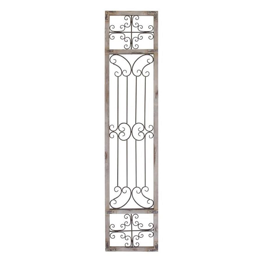 Woodland Imports 16-in W x 72-in H Frameless Metal Scrollwork Panel 3D Wall Art