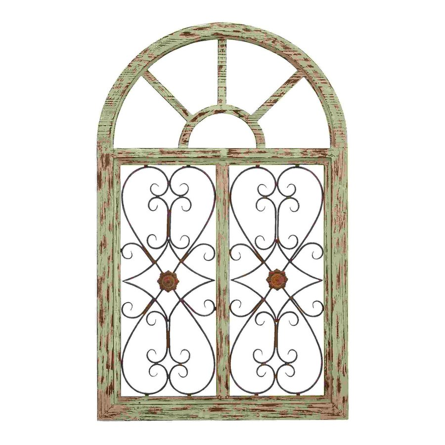 Woodland Imports 29-in W x 46-in H Frameless Wood Wooden Garden Gate 3D Wall Art
