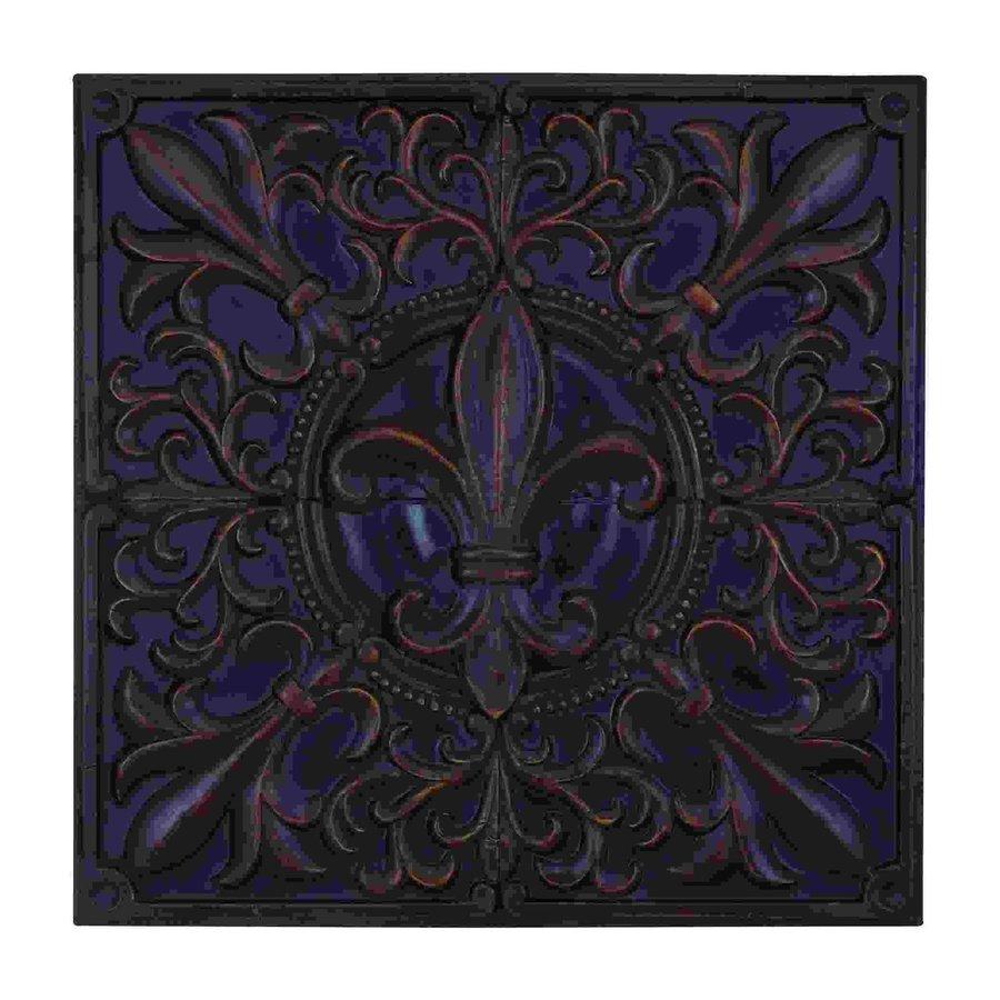 Woodland Imports 36-in W x 36-in H Frameless Metal Fleur De Lis Sculptural Wall Art