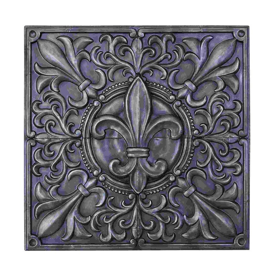 Woodland Imports 36-in W x 36-in H Frameless Metal Fleur De Lis Sculptural Wall Art