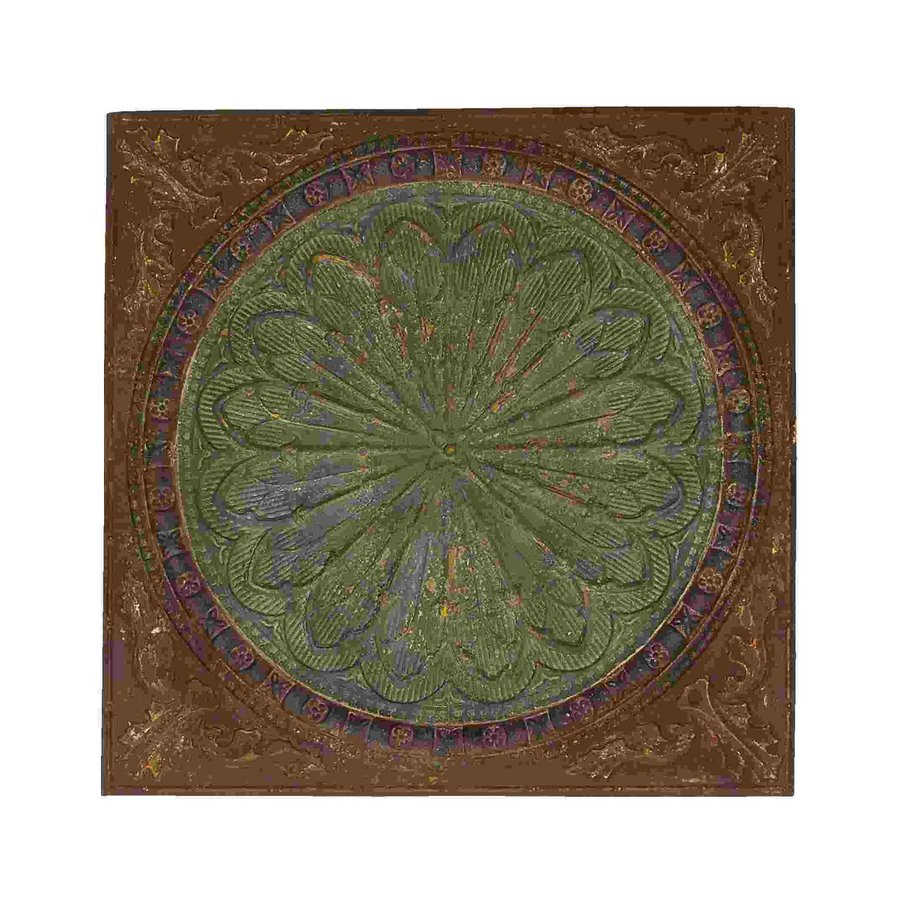 Woodland Imports 43-in W x 43-in H Frameless Metal Byzantine Floral Design Sculptural Wall Art