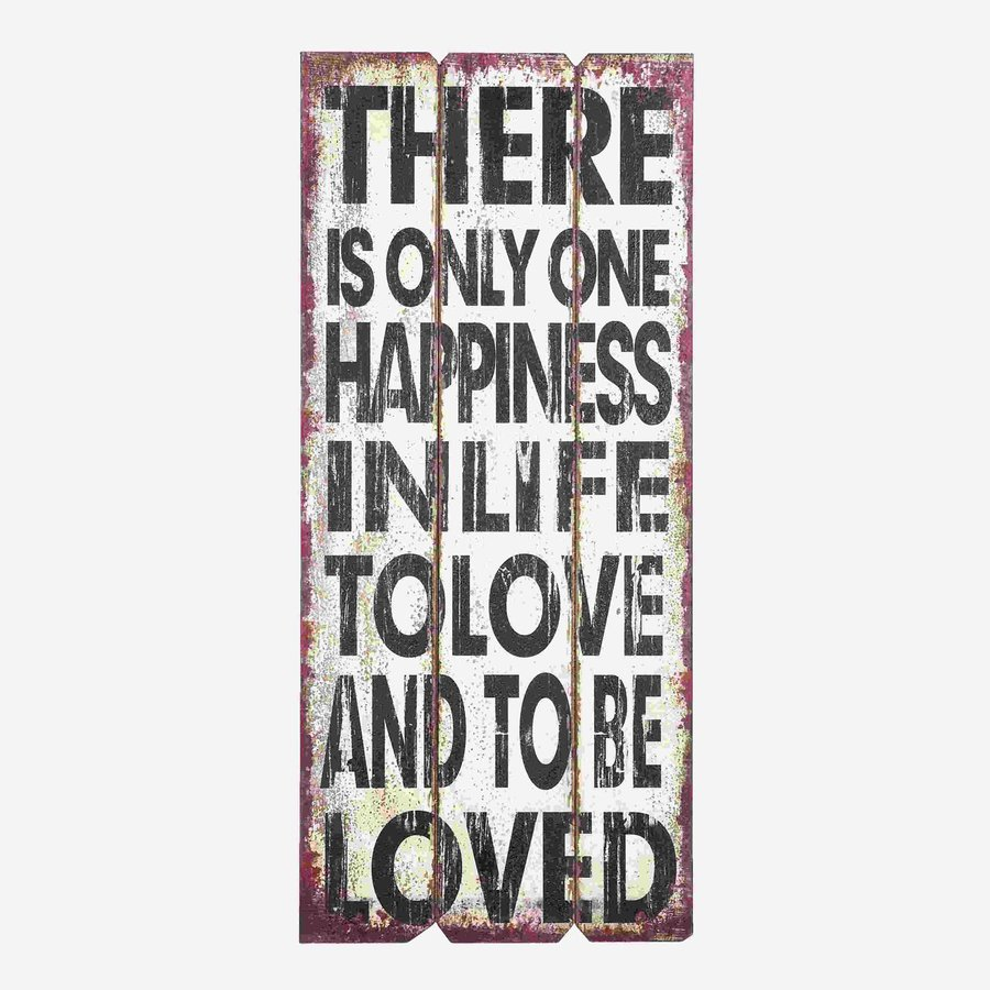 Woodland Imports 16-in W x 36-in H Frameless Wood Motivational Love Message Sign Wall Art