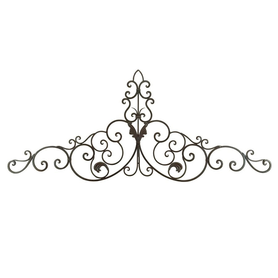 Outdoor Wall Art Metal Scroll : Woodland imports in w h frameless metal