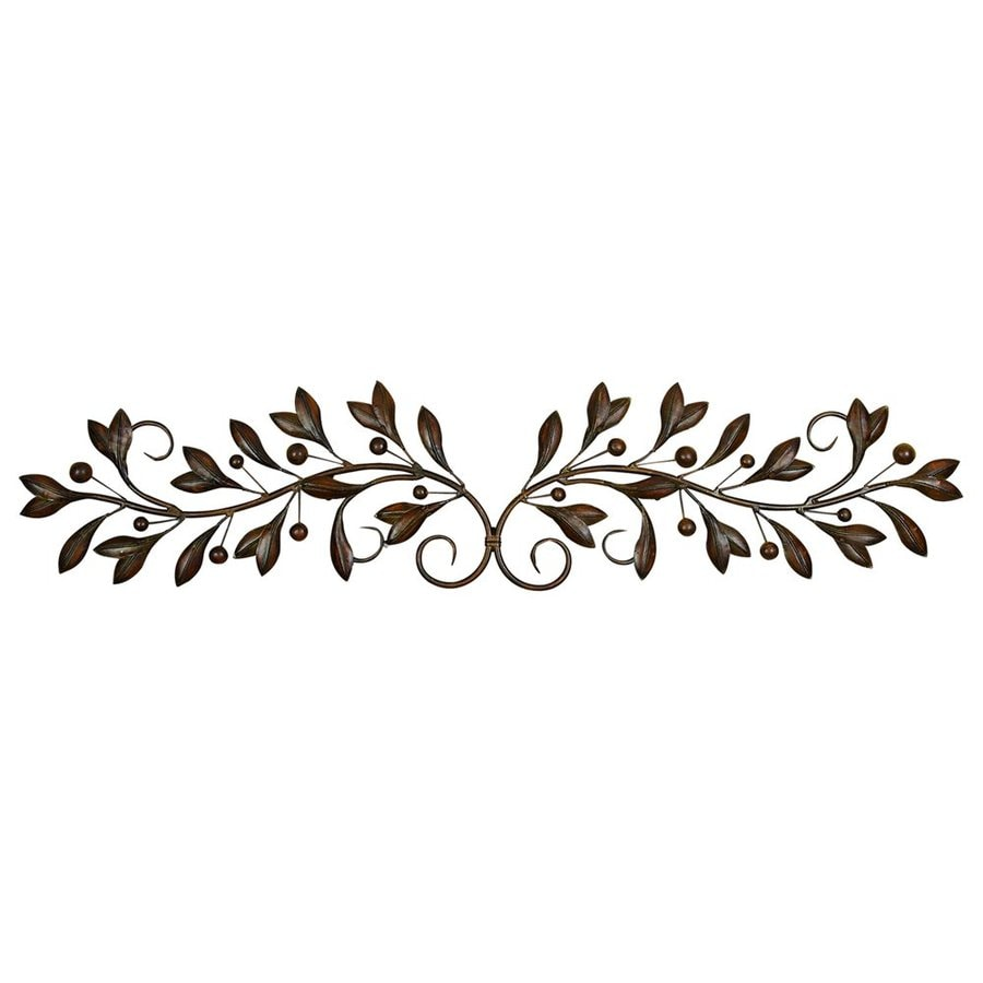 Woodland Imports 9-in W x 48-in H Frameless Metal Vines 3D Wall Art