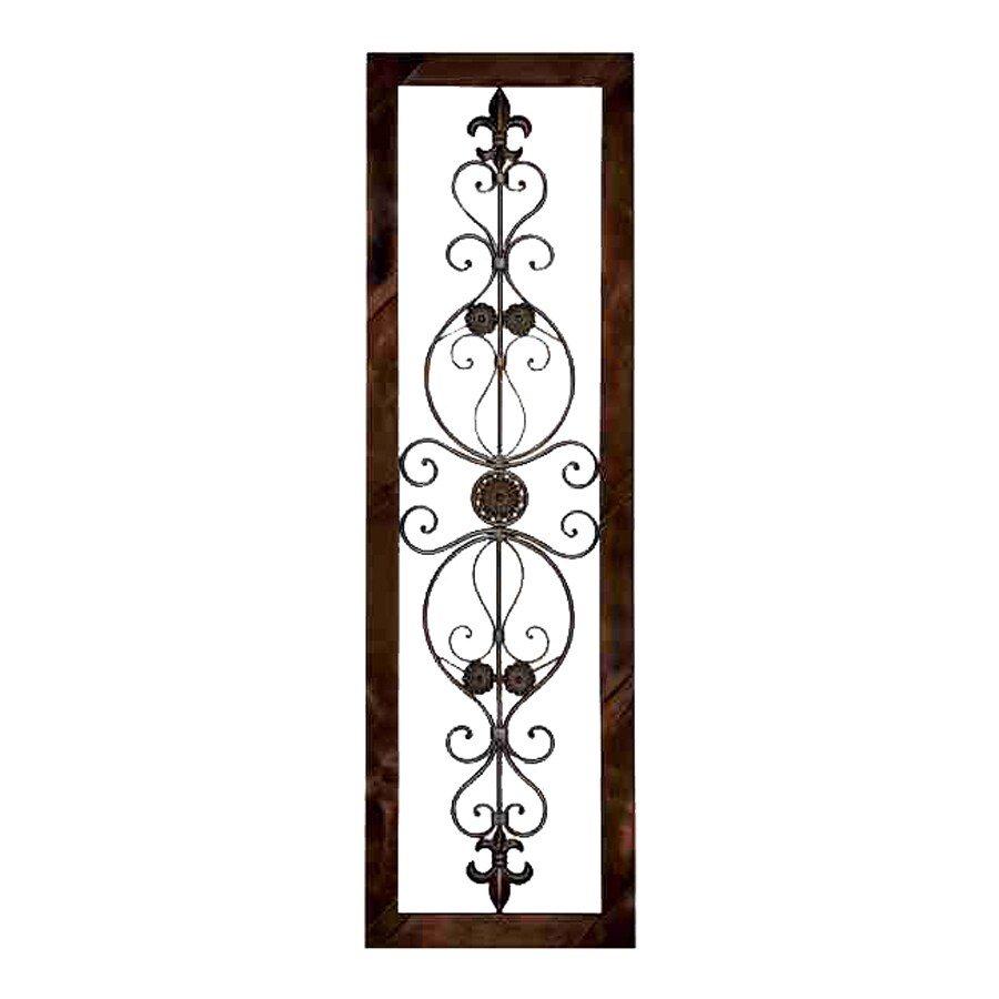 shop woodland imports 18 in w x 62 in h framed metal wall plaque 3d art at. Black Bedroom Furniture Sets. Home Design Ideas