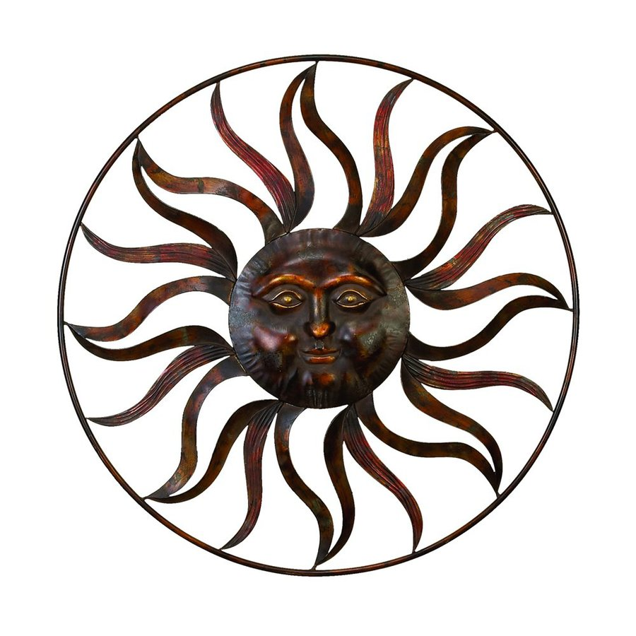 Sun Wall Art shop woodland imports 36-in w x 36-in h frameless metal sun 3d