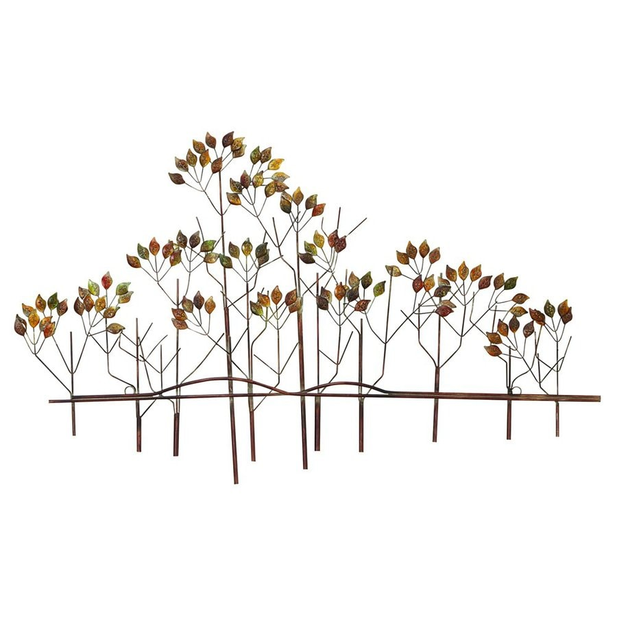 Woodland Imports 39-in W x 24-in H Frameless Metal Trees 3D Wall Art