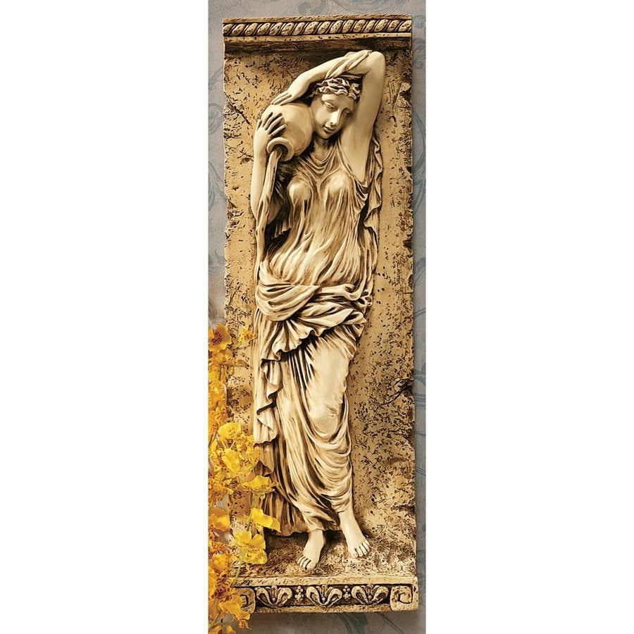 Design Toscano 7-in W x 227-in H Frameless Resin Water Maiden Sculpture Wall Art