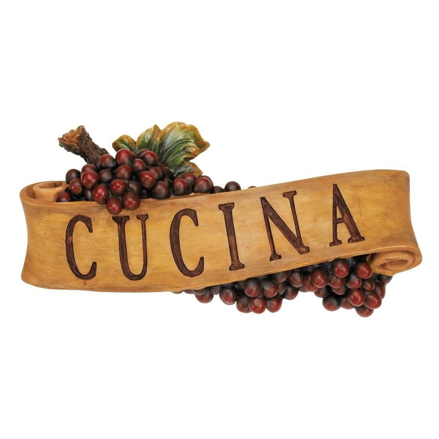 Design Toscano 14.5-in W x 5.5-in H Frameless Resin Abbondanza Cucina Sign Wall Art