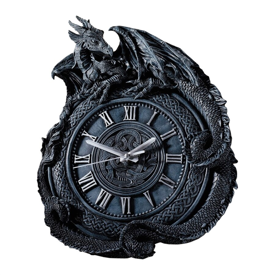 Design Toscano Penhurst Dragon Analog Round Indoor Wall Clock