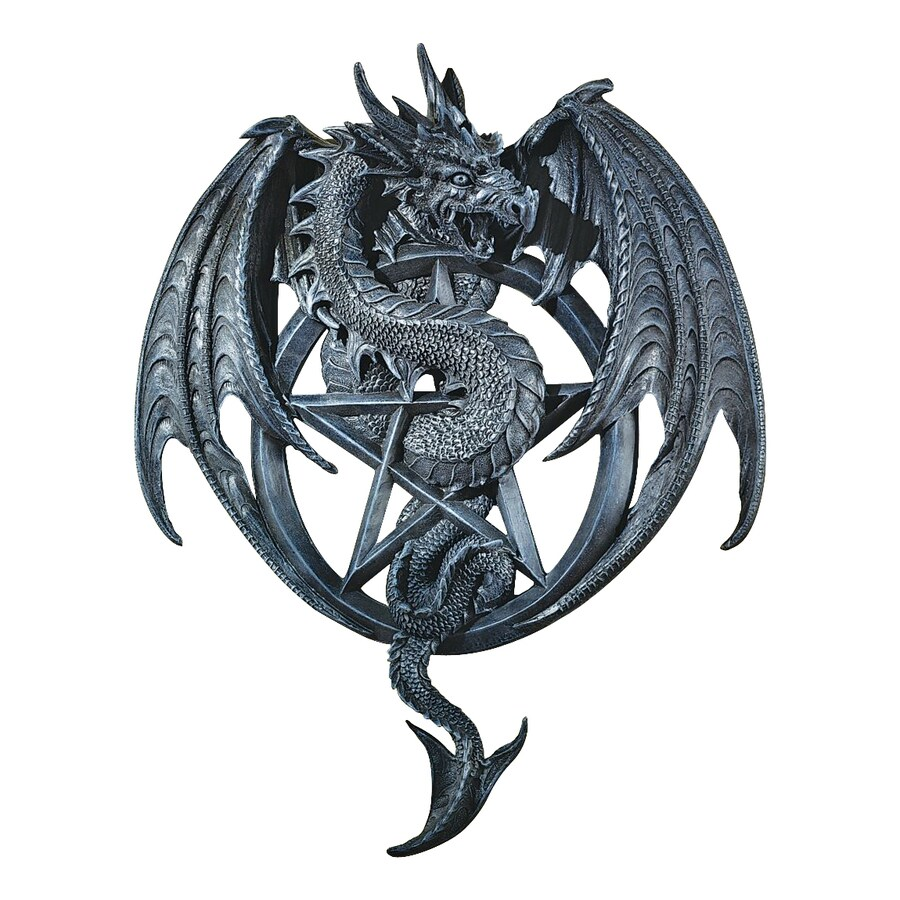 Design Toscano 14.5-in W x 18-in H Frameless Resin Dragon's Pentacle Sculpture Wall Art