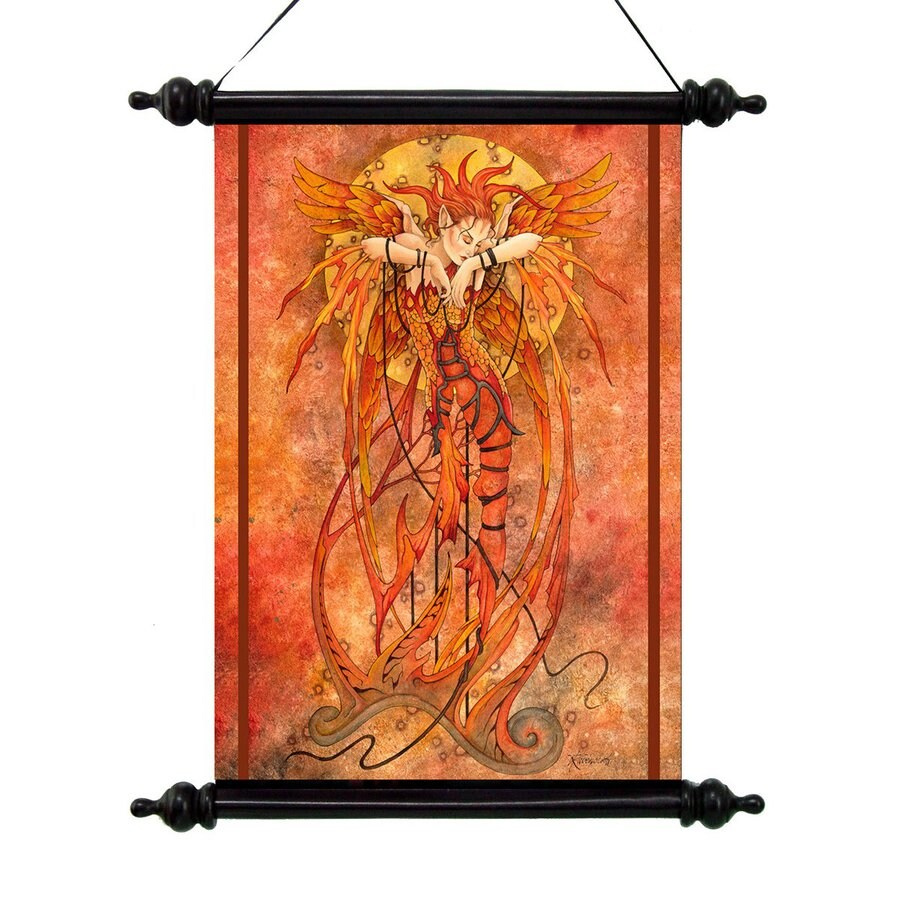 Design Toscano 16-in W x 20-in H Frameless Canvas Phoenix Rising Print Wall Art