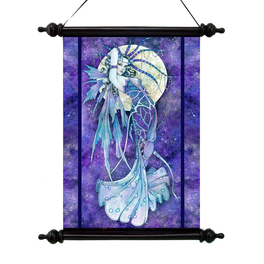 Design Toscano 16-in W x 20-in H Frameless Canvas Blue Moon Print Wall Art
