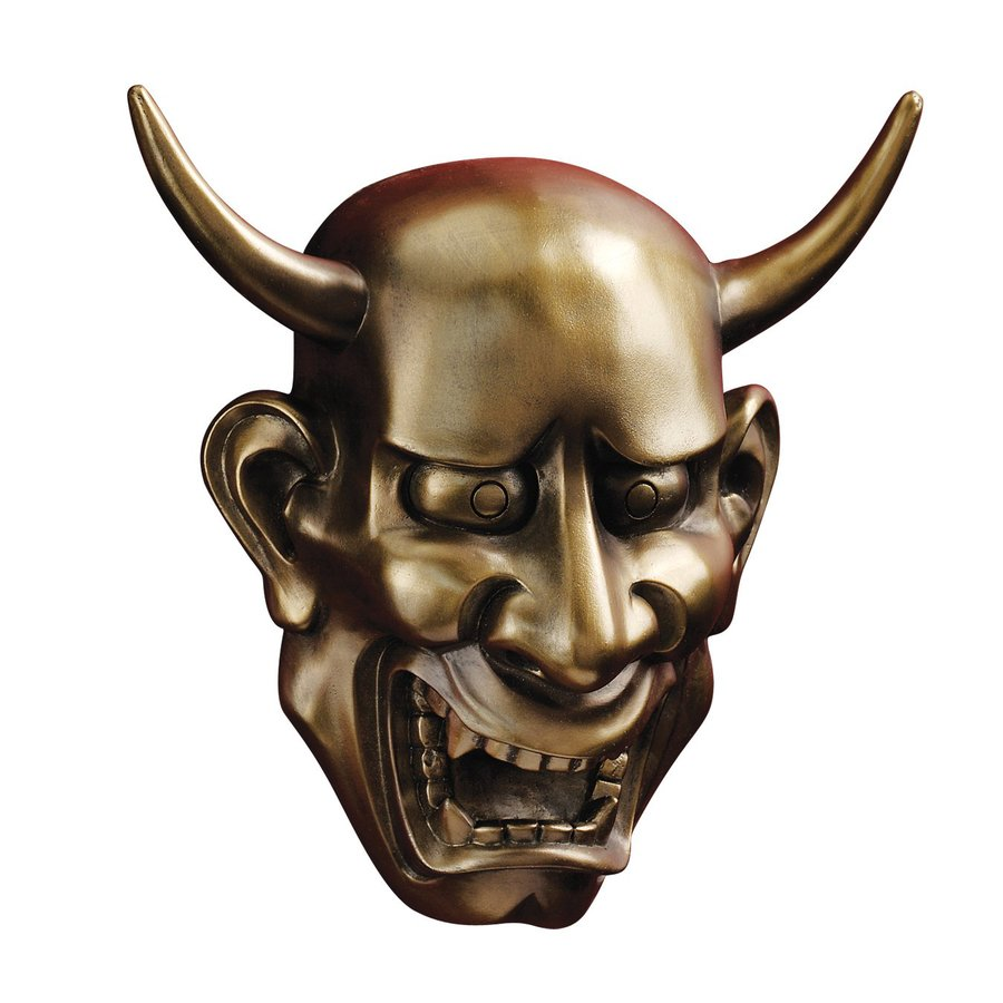 Design Toscano 8.5-in W x 8.5-in H Frameless Resin Noh Hannya Demon Mask Sculpture Wall Art