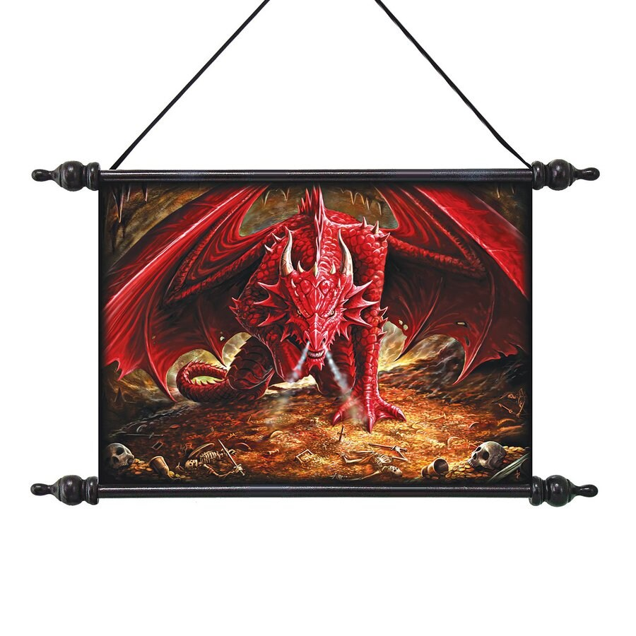 Design Toscano 22.5-in W x 14.5-in H Frameless Canvas Dragon's Lair Print Wall Art