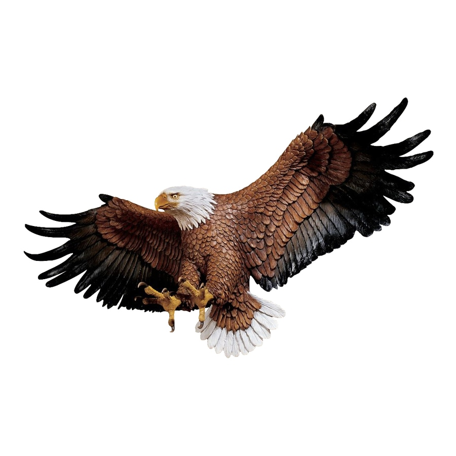 Design Toscano 31-in W x 12-in H Frameless Resin Freedom's Pride Eagle Sculpture Wall Art