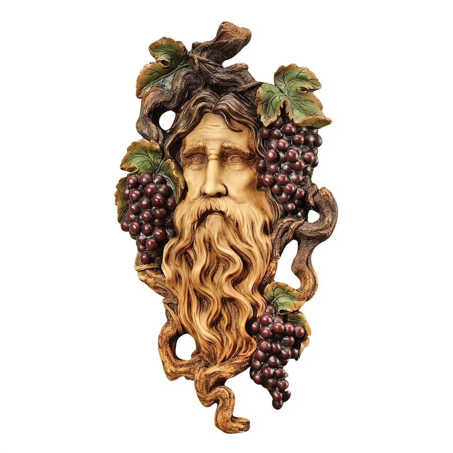 Design Toscano 12.5-in W x 22.5-in H Frameless Resin God of The Grape Harvest Sculpture Wall Art