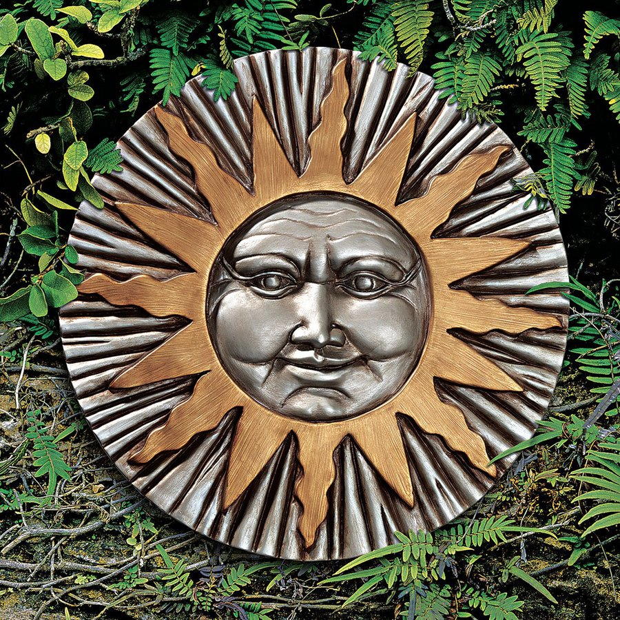 Design Toscano 12-in W x 12-in H Frameless Resin Rising Summer Sun Sculpture Wall Art