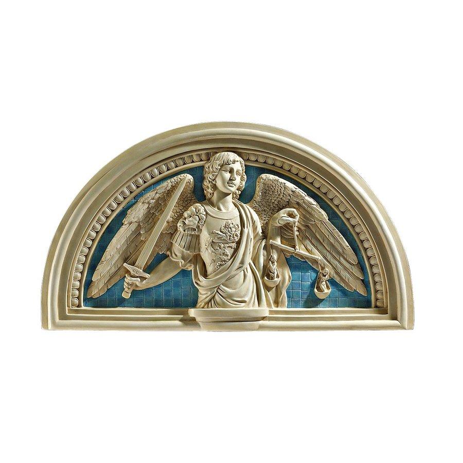 Design Toscano 24-in W x 13-in H Frameless Resin Saint Michael Archangel Sculpture Wall Art