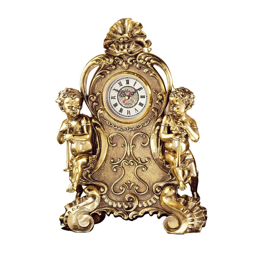 Design Toscano Saint Remy Cherub Analog Arch Indoor Tabletop Standard Clock