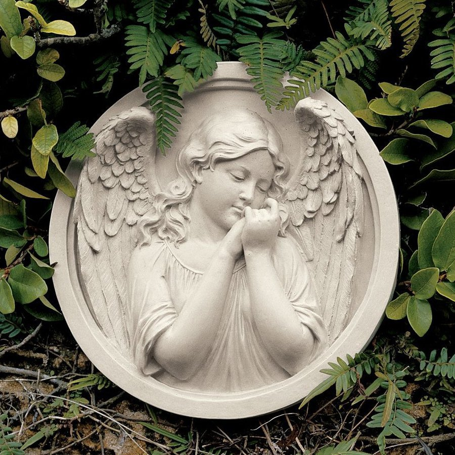 Design Toscano 12-in W x 12-in H Frameless Resin Thoughts Of An Angel Sculpture Wall Art