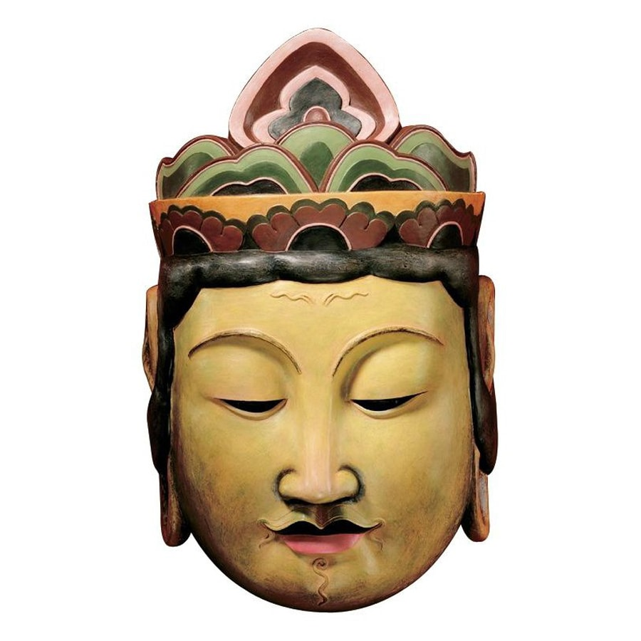 Design Toscano 7.5-in W x 12-in H Frameless Resin Processional Taishakuten Mask Of The Devas Sculpture Wall Art