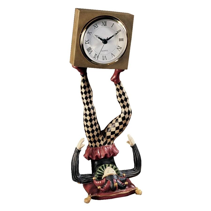 Design Toscano Juggling Time Harlequin Jester Analog Square Indoor Tabletop Standard Clock
