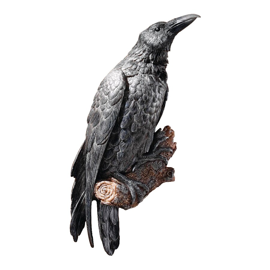 Design Toscano 7.5-in W x 18-in H Frameless Resin Raven's Perch Sculpture Wall Art